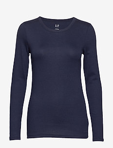Modern Long Sleeve Crewneck T-Shirt - TRUE INDIGO 2