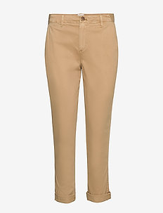 Girlfriend Twill Stripe Khakis - GOLDEN KHAKI 868