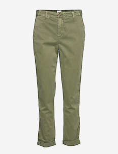 Girlfriend Twill Stripe Khakis - GREENWAY