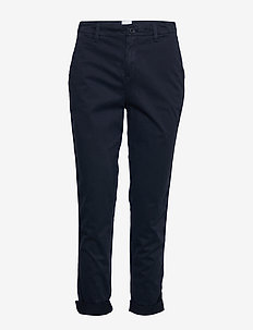 Girlfriend Twill Stripe Khakis - TRUE INDIGO 2