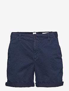 """5"""" Girlfriend Chino Shorts - TRUE INDIGO 340"""