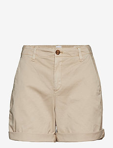 Mid Rise Khaki Shorts - WICKER