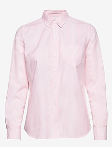 V-FITTED BOYFRIEND - OXF - PINK STRIPE 8172-1
