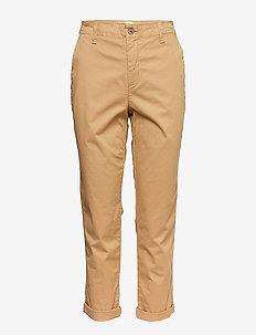V-GIRLFRIEND KHAKI - straight leg trousers - khaki