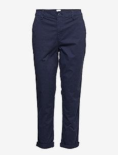 V-GIRLFRIEND KHAKI - straight leg trousers - true indigo 340