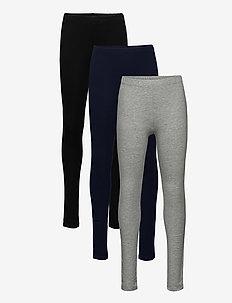Kids Leggings in Stretch Jersey (3-Pack) - leggingsit - multi