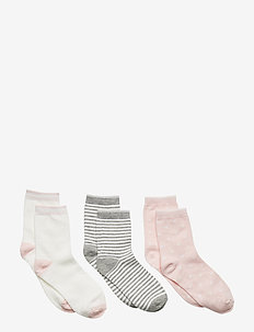Kids Print Crew Socks (3-Pairs) - chaussettes - new powder