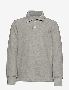 LS UNIFORM POLO - LIGHT HEATHER GREY B10