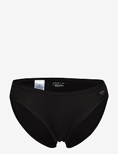 Stretch Cotton Bikini - briefs - true black