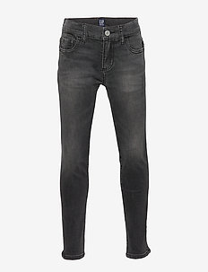 Kids Super Skinny Jeans with Stretch - BLACK WASH
