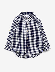 Toddler Gingham Convertible Shirt - ELYSIAN BLUE