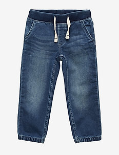 Toddler Pull-On Denim Joggers - MEDIUM WASH