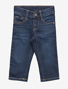 Toddler Slim Jeans with Stretch - jeans - dark wash indigo 119