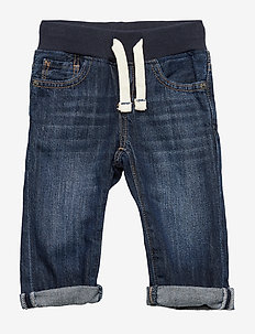Toddler Pull-On Slim Jeans with Stretch - DARK WASH INDIGO 119