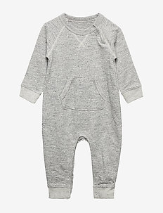 Baby Marled Pocket One-Piece - HA33789ARND GREY MARL