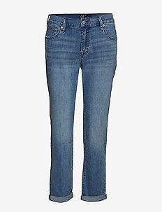 V-SOFT GF MED TAZZ - straight jeans - medium indigo 8