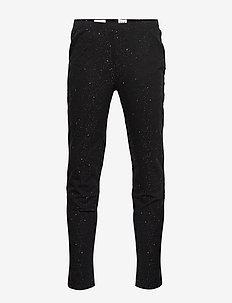 Kids Sparkle Leggings in Stretch Jersey - TRUE BLACK V2