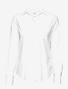 Fitted Boyfriend Shirt in Poplin - OPTIC WHITE 3