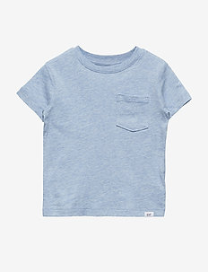 Toddler Pocket Short Sleeve T-Shirt - lt blue heather b8830