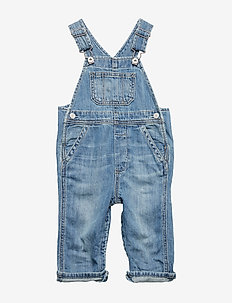 Baby Organic Cotton Denim Overalls - overalls - medium light