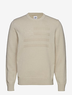 EXCL AMERICANA CREW - basic knitwear - off white