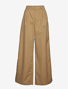 High Rise Pleated Wide Leg Chinos - MOJAVE 235