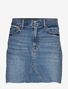 High Rise Denim Mini Skirt - MEDIUM INDIGO 8
