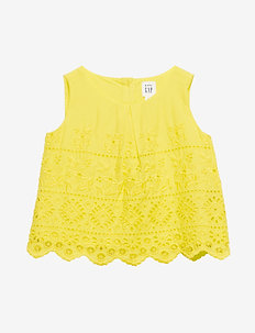 Toddler Eyelet Tank Top - chemisiers & tuniques - vibrating yellow