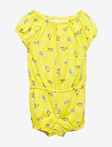 Toddler Print Romper - grenouillères - vibrating yellow