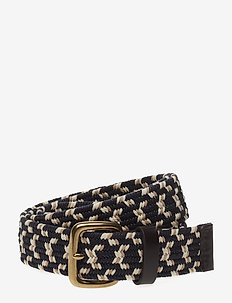 Stretch Webbing Belt - braided belts - smoked indigo