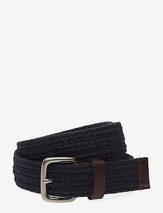 Stretch Webbing Belt - braided belts - tapestry navy