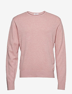 Crewneck Pullover Sweater in Linen-Cotton - PARADISE PINK