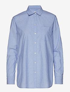 Boyfriend Popover Shirt in Poplin - LIGHT BLUE