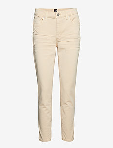 Mid Rise True Skinny Ankle Jeans in Color - skinny jeans - buttermilk yellow