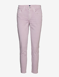 Mid Rise True Skinny Ankle Jeans in Lilac - skinny jeans - purple lilac 193