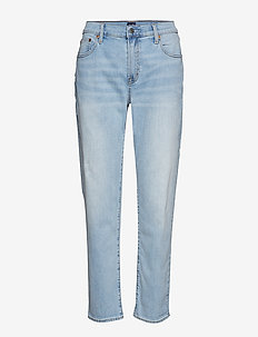 Mid Rise Girlfriend Jeans - LIGHT DESTROY