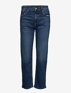 High Rise Cheeky Straight Jeans - DARK INDIGO V2