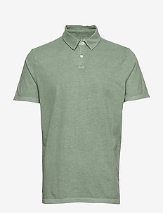 Vintage Soft Polo Shirt - GASOLINE GREEN