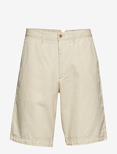 "10"" Khaki Shorts in Linen-Cotton - chinos shorts - natural1"