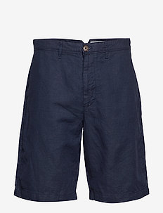 "10"" Khaki Shorts in Linen-Cotton - chinos shorts - navy081"