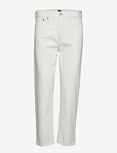 High Rise Cheeky Straight Jeans - VANILLA CREAM