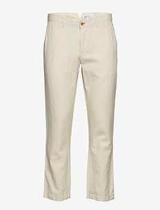 Linen Khakis in Slim Fit - NATURAL1
