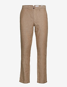 Linen Khakis in Slim Fit - chinos - sand khaki