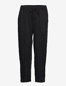 Pintuck Drawstring Pants in TENCEL™ - casual bukser - true black v2
