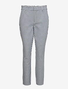 Skinny Ankle Pants with Secret Smoothing Pockets - bukser med lige ben - tiny gingham