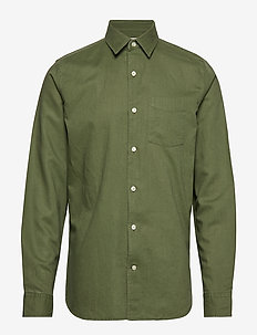 Linen-Cotton Shirt in Standard Fit - DESERT CACTUS