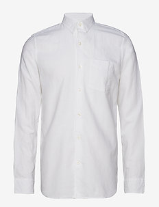 Linen-Cotton Shirt in Standard Fit - OPTIC WHITE 3