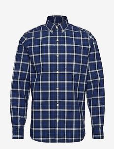 Lived-In Stretch Poplin Shirt - checkered shirts - blue plaid