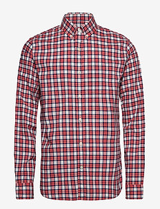 Lived-In Stretch Poplin Shirt - checkered shirts - watermelon ice