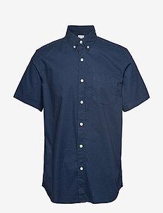 Lived-In Stretch Poplin Short Sleeve Shirt - basic skjorter - blue dot